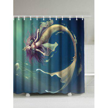 Underwater Mermaid Water Resistant Shower Curtain