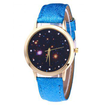 Faux Leather Starry Night Watch - BLUE BLUE
