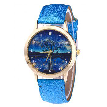 Tree Starry Night Glitter Strap Watch - BLUE BLUE