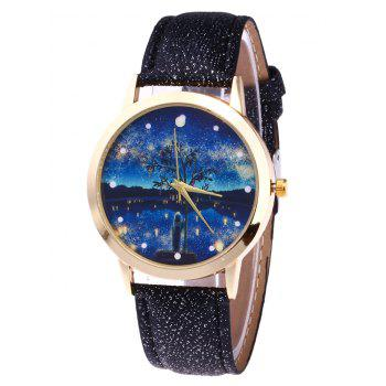 Tree Starry Night Glitter Strap Watch