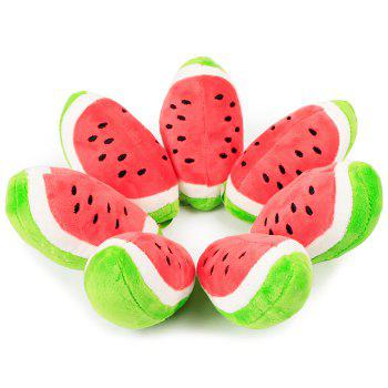 Plush Toy Sound Producing Watermelon -  RED