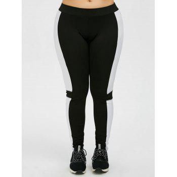 Plus Size Color Panel Workout Leggings