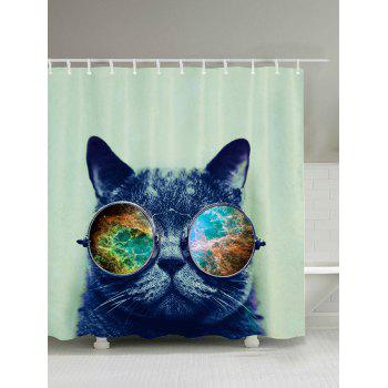 Cat with Glasses Shower Curtain