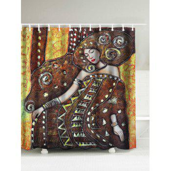 Queen Oil Painting Bath Curtain
