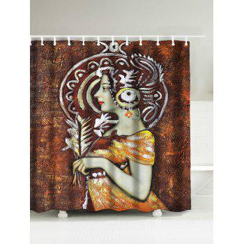 Queen Oil Painting Water Repellent Shower Curtain
