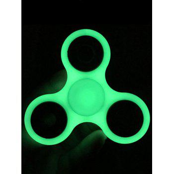 Triangle Hand Toy Luminous Anti-Stress Finger Spinner - GRAY