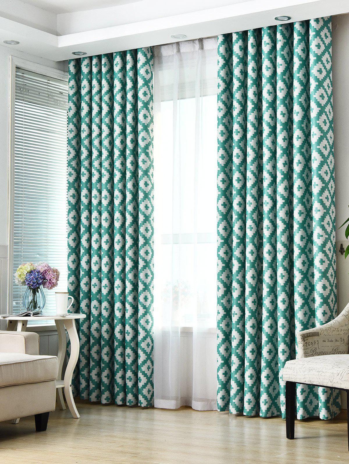 Shading Fenêtre Blackout Curtain Pour Living Room - Turquoise W53 INCH*L83 INCH