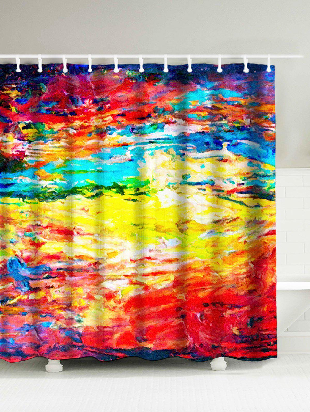 Abstract Painting Water Repellent Graffiti Shower Curtain бензопила patriot pt 4518 [220105550]