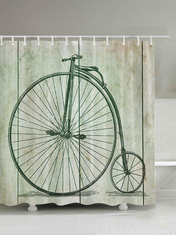 Penny Farthing Bicycle Shower Curtain   LIGHT GREEN 180*180CM ...