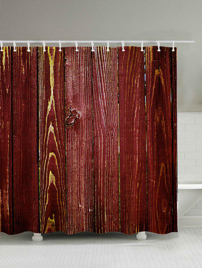 Wood Grain Bathroom Shower Curtain RED CM In Shower Curtains