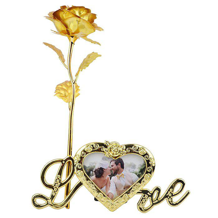 Artificial Rose Flower with Photo Frame Holder artificial bunch with 11 branches