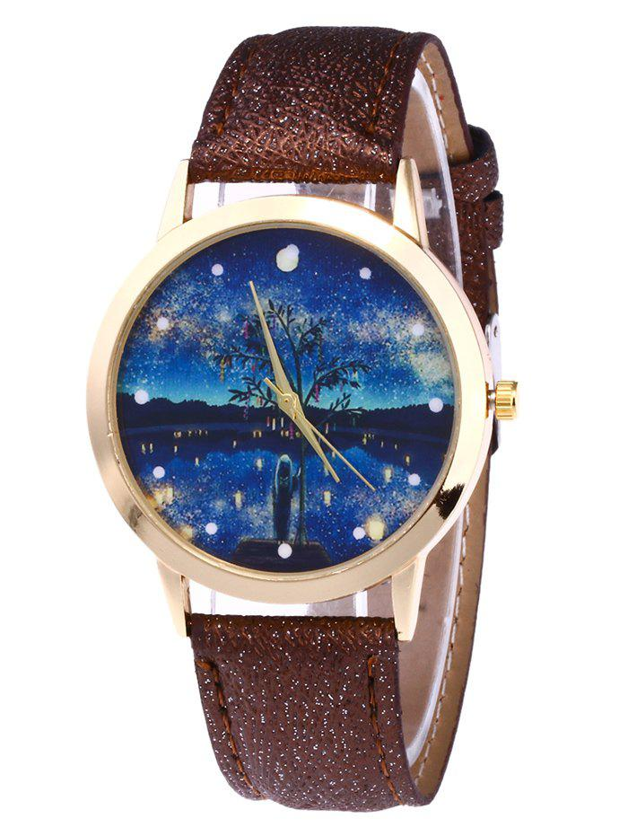 Tree Starry Night Glitter Strap Watch putti starry night 120x60 8 предметов
