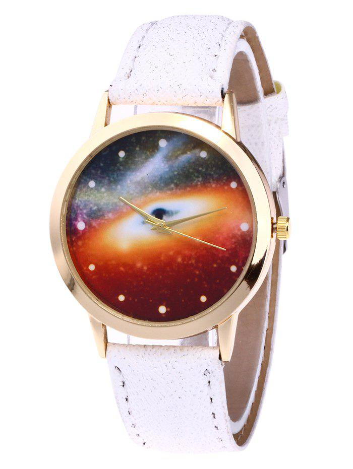 Starry Sky Glitter Strap Watch - WHITE