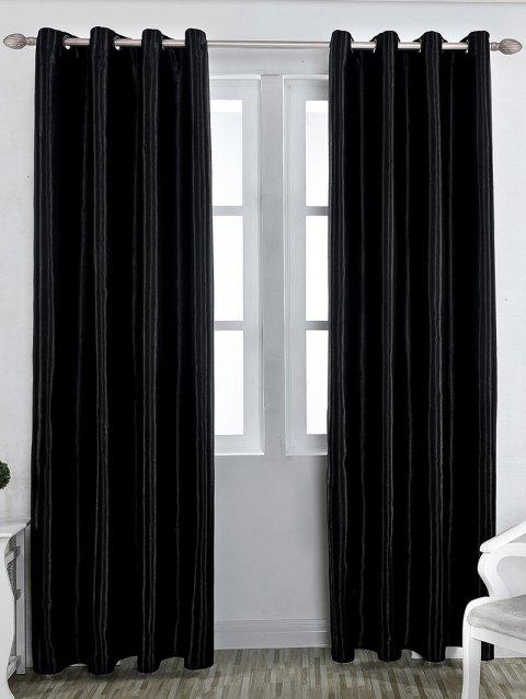 Thermal Insulated Blackout Curtain For Living Room - BLACK W39 INCH*L98 INCH