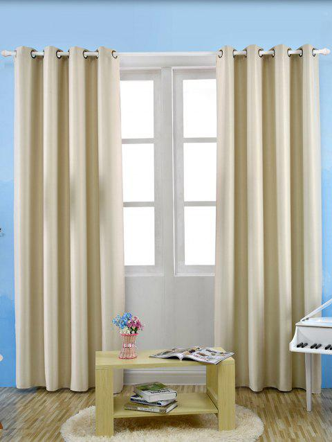 Thermal Insulated Blackout Curtain For Living Room - PALOMINO W53 INCH*L85 INCH