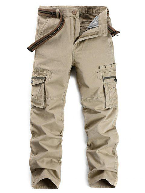 9216a2b5d5 41% OFF] 2019 Zipper Fly Selvedge Embellished Pockets Cargo Pants In ...