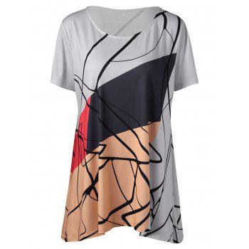 Graphic Plus Size Longline T-Shirt