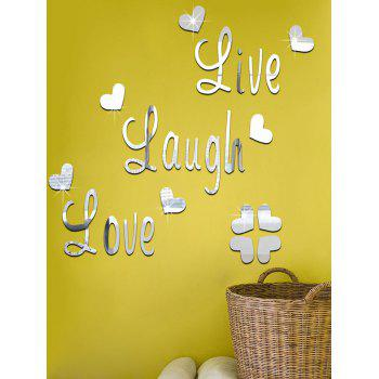 DIY Heart Shape Art Decals Mirror Wall Sticker