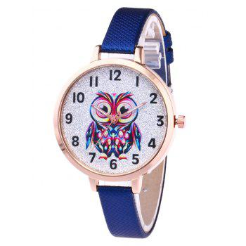 Faux Leather Owl Glitter Watch - ROYAL ROYAL