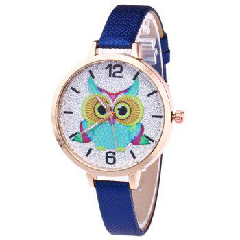Owl Faux Leather Glitter Watch - ROYAL ROYAL