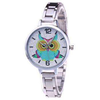 Alloy Strap Owl Glitter Watch