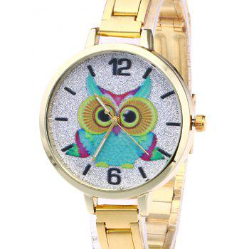 Alloy Strap Owl Glitter Watch -  ROSE GOLD