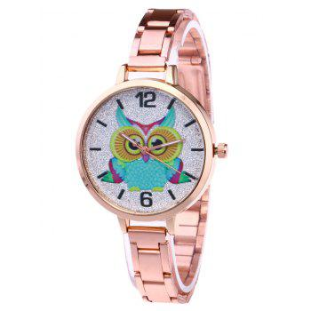 Alloy Strap Owl Glitter Watch - ROSE GOLD ROSE GOLD