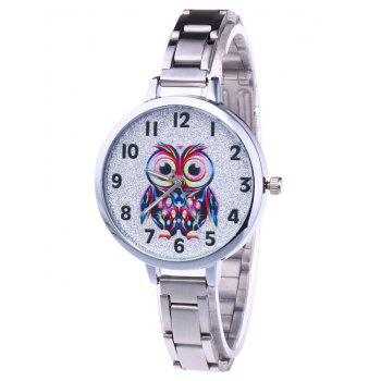 Alloy Number Owl Glitter Watch