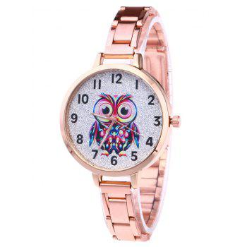 Alloy Number Owl Glitter Watch - ROSE GOLD ROSE GOLD