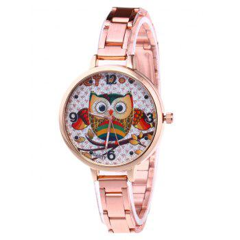 Cartoon Owl Number Glitter Watch