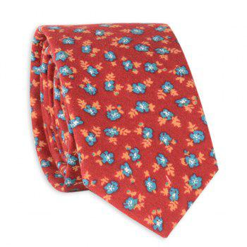 Flowers Printed Neck Tie - RED RED