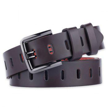 Filmstrip Style Pin Buckle Wide Belt