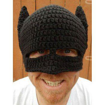 Knitting Masquerade Cosplay Batman Party Mask Hat