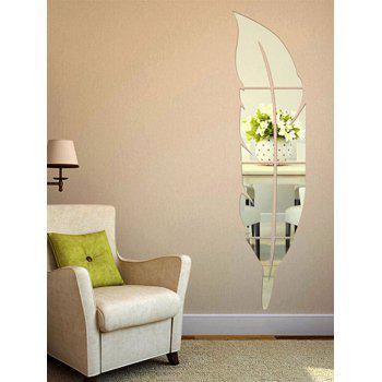 Feather Shaped Home Decor Mirror Wall Sticker