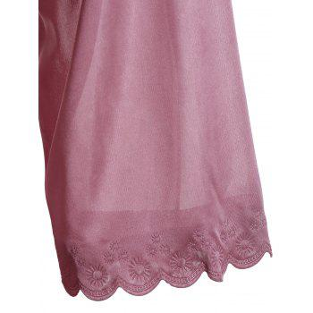 Scalloped Robe with Cami Babydoll - NUDE PINK NUDE PINK