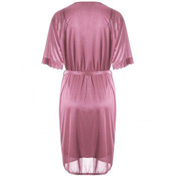 Scalloped Robe with Cami Babydoll - ONE SIZE ONE SIZE