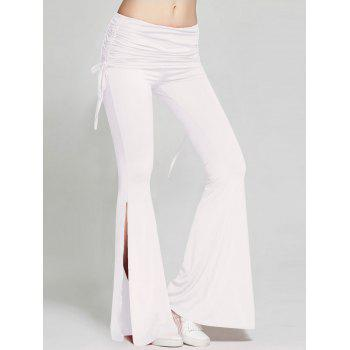 High Slit Flare Bell Bottom Yoga Pants