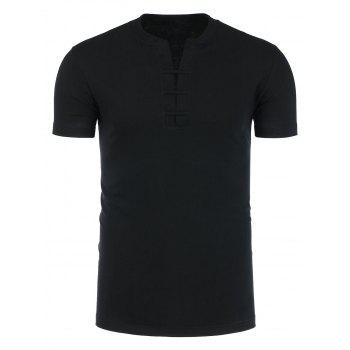 Short Sleeve Stand Collar T-Shirt