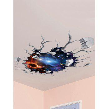 3D Galaxy Wall Broken Design Ceiling Wall Stickers