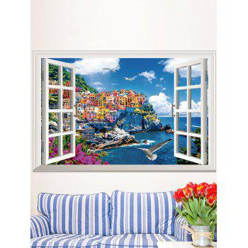 Seascape Faux Window Home Decorative Wall sticker