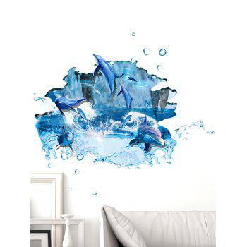 Room Decoration 3D Ocean Dolphin Wall Sticker