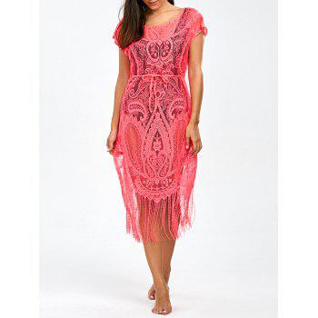 Openwork See-Through Fringed Cover-Up
