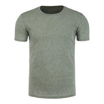 Round Neck Short Sleeve Muscle T Shirt