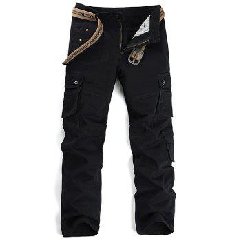 Pockets Star Stud Embellished Cargo Pants