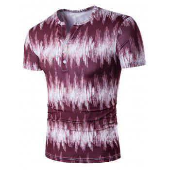 Half Button Tie Dyed T-Shirt