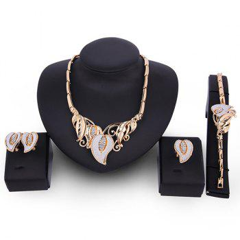 Flowers Artificial Gem Jewelry Set
