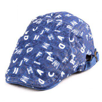 Letters Printed Denim Flat Hat