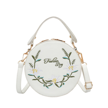 Floral Embroidery Canteen Crossbody Bag