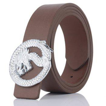 Dragon Shape Covered Buckle Wide Belt