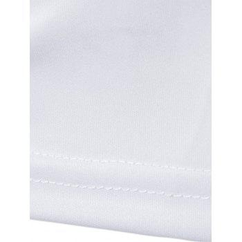 Plexe Panel Cowl Neck T-Shirt - Blanc XL